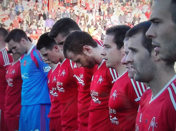 Aberdeen v Celtic - Dons players on Remembrance Sunday