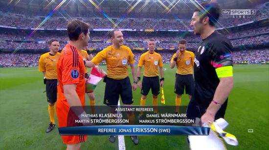 Jonas Eriksson referee (Real Madrid v Juventus - 13th May 2015)