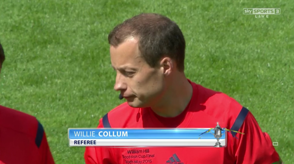 Willie Collum referee (Scottish Cup Final - 30th May 2015)