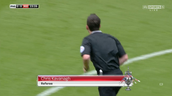 Chris Kavanagh referee (Preston v Middlesbrough - 9th August 2015)
