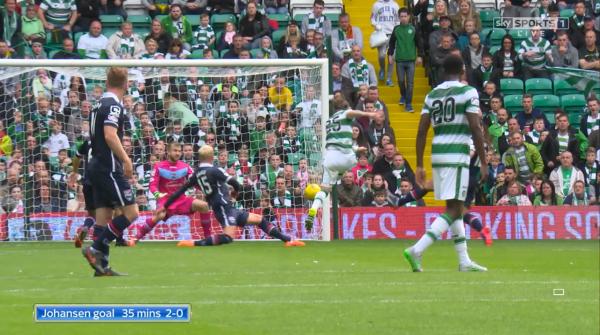 Johansen goal 35 mins 2-0