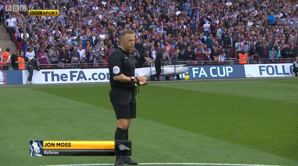 Jon Moss referee (Arsenal v Aston Villa FA Cup Final - 30th May 2015)