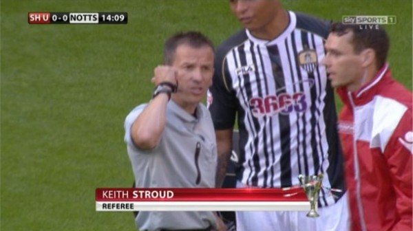 Keith Stroud referee (Sheff Utd 2-1 Notts County - August 2013)