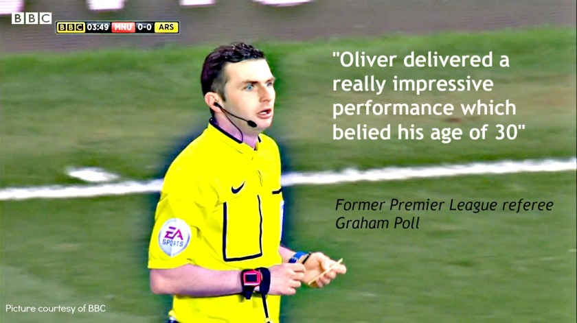 Michael Oliver (Graham Poll graphic image) 10th March 2015