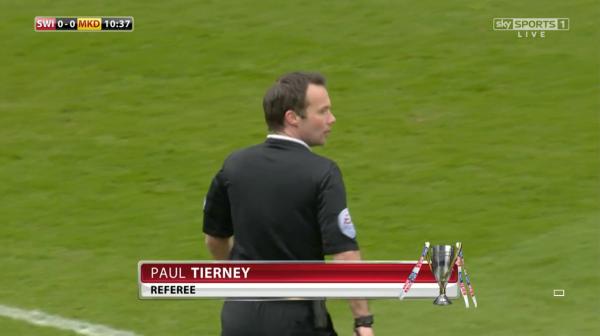 Paul Tierney referee (Swindon v MK Dons - 4th April 2015)