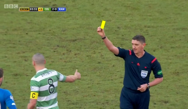 Craig Thomson books Scott Brown (Celtic v Rangers - 1st February 2015)