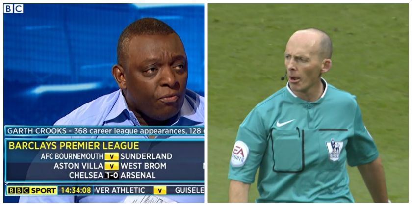 Garth Crooks and Mike Dean collage