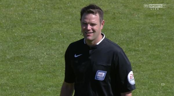 James Linington at full-time (Bristol Rovers v Oxford - 6th Sept 2015)