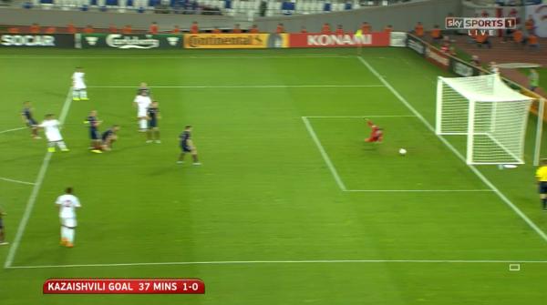 Kazaishvili goal 37 mins 1-0