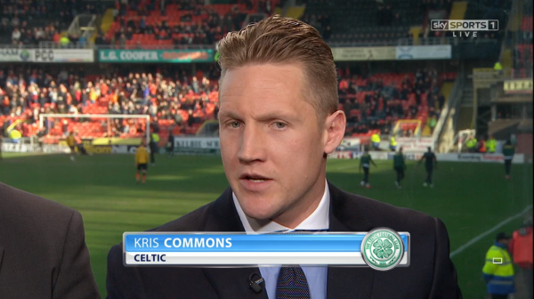 Kris Commons (Celtic midfielder on Sky Sports at Tannadice - 8th March 2015)