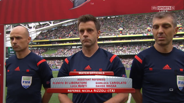Nicola Rizzoli referee (ROI v Scotland - 13th June 2015)