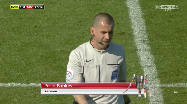 Peter Bankes referee (Burton Albion v Coventry - 6th Sept 2015)