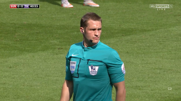 Craig Pawson in action (Sunderland v Spurs - 13th Sept 2015)