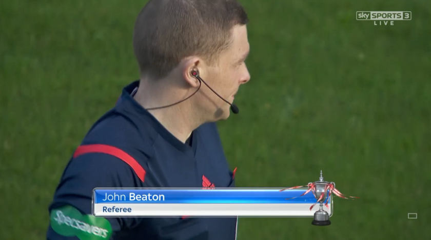 John Beaton referee (Hibernian v Rangers - 1st November 2015)