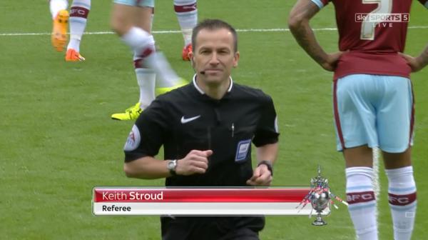 Keith Stroud referee (Blackburn v Burnley - 24th October 2015)