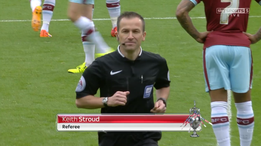 Keith Stroud referee (Blackburn v Burnley - 24th October 2015)