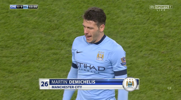 Martin Demichelis (Man City defender v Chelsea - 31st Jan 2015)
