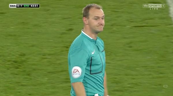 Referee Bobby Madley