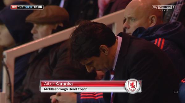 Aitor Karanka taking notes