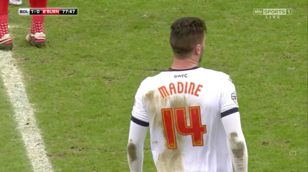 Gary Madine after goal (v Blackburn - 28th December 2015)