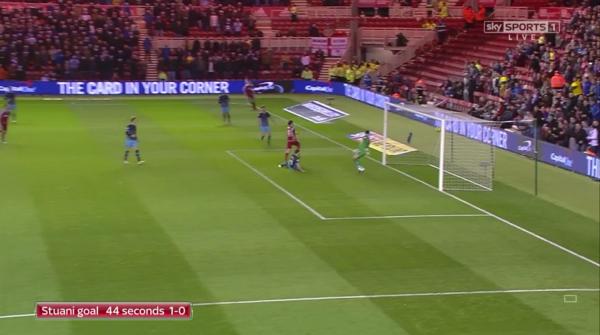 Stuani goal 44 seconds 1-0