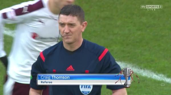 Craig Thomson referee (Aberdeen v Hearts - 12th Dec 2015)