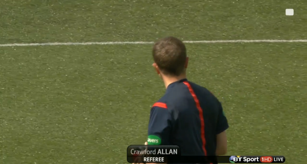 Crawford Allan referee (Alloa Athletic v Rangers - 16th August 2015)