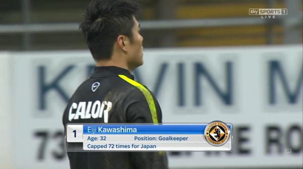 Eiji Kawashima pre-match