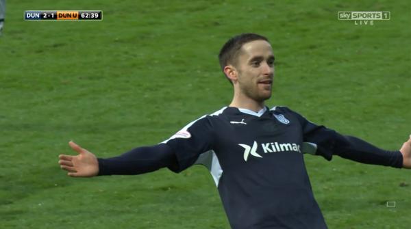 Nick Ross celebrates winning goal (v Dundee United - 2nd Jan 2016)