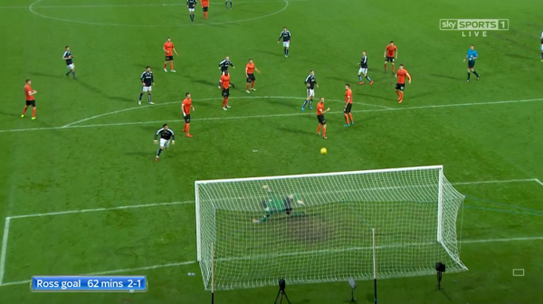 Nick Ross goal 62 mins 2-1 (v Dundee Utd - 2nd Jan 2016)