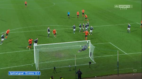 Spittal goal 15 mins 0-1