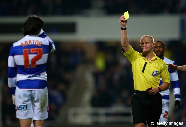 Andy Woolmer books Joey Barton (QPR v Bournemouth - 3rd December 2013)