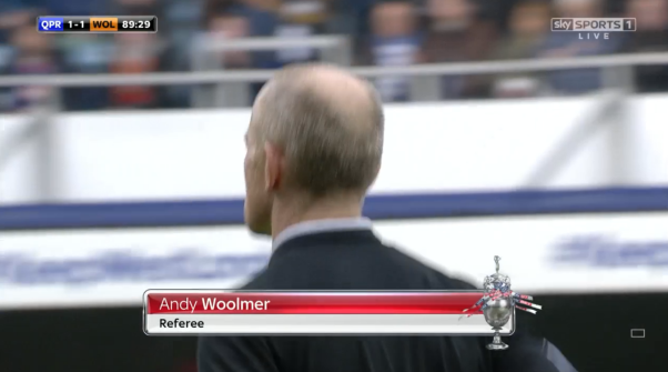 Andy Woolmer referee (QPR v Wolves - 23rd Jan 2016)