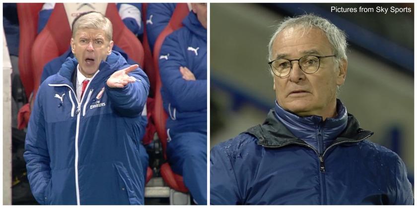 Arsene Wenger and Claudio Ranieri (Arsenal v Leicester - February 2016)