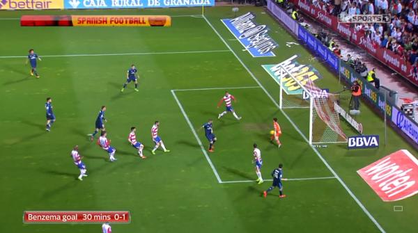 Benzema goal 30 mins 0-1