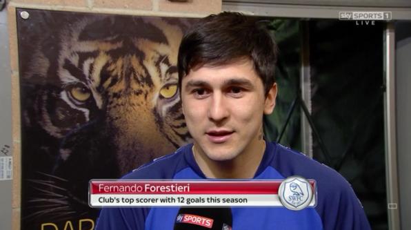 Fernando Forestieri pre-match (v Hull - 26th Feb 2016)