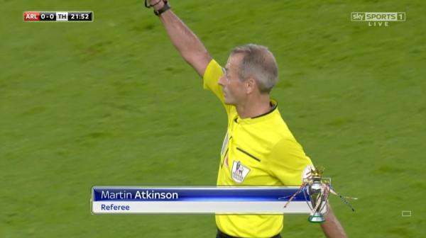 Martin Atkinson referee (Arsenal v Tottenham - 8th November 2015)