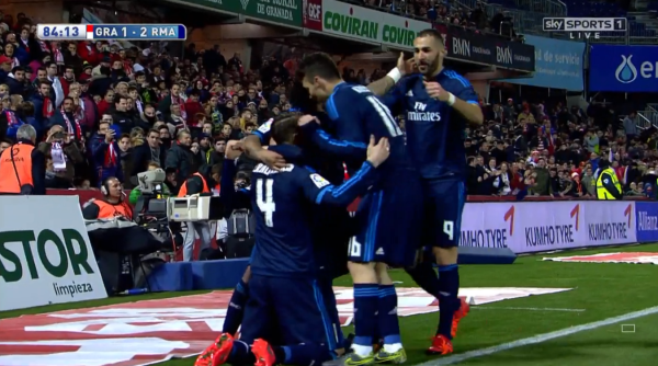Real celebrations Modric goal