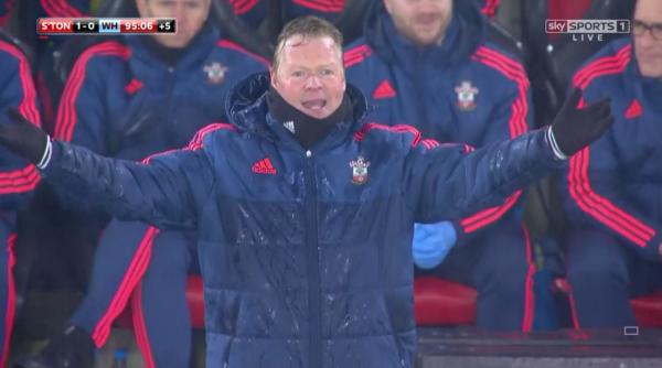 Ronald Koeman on the sidelines (v West Ham - 6th Feb 2016)
