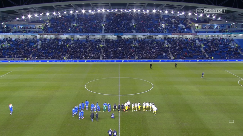 Pre-match scene (Brighton v Leeds - 29th Feb 2016)