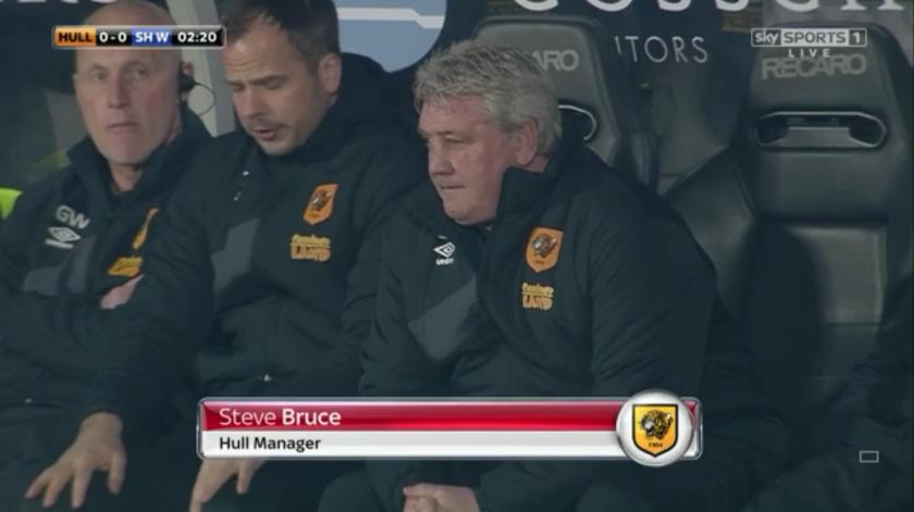 Steve Bruce on sidelines