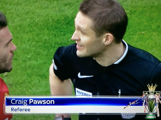 Craig Pawson referee (Man Utd v Arsenal - 28th Feb 2016)