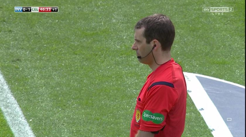 Alan Muir stood behind the goal