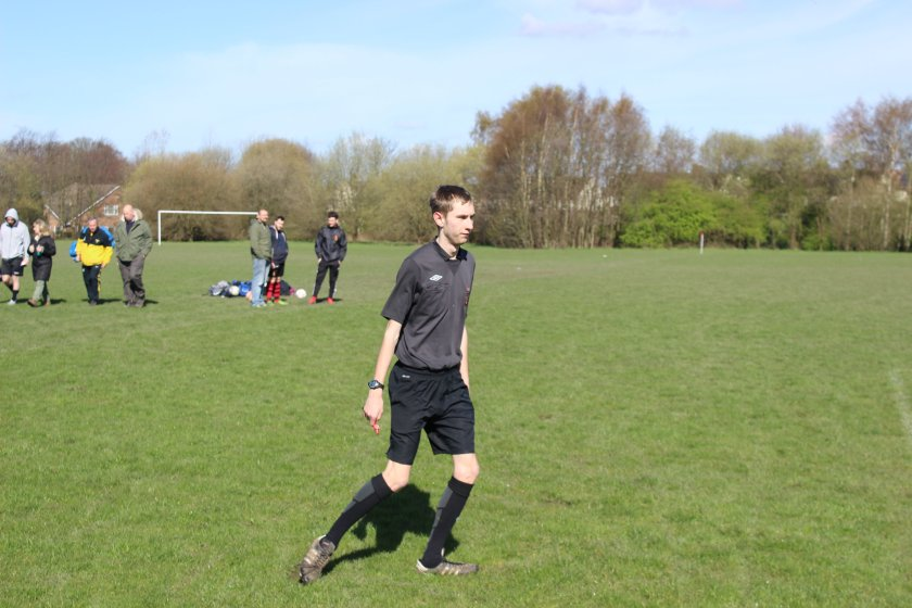 On the up: Alex has officiated several junior cup finals and open age games in seven years as a referee and is currently being assessed for promotion to county level