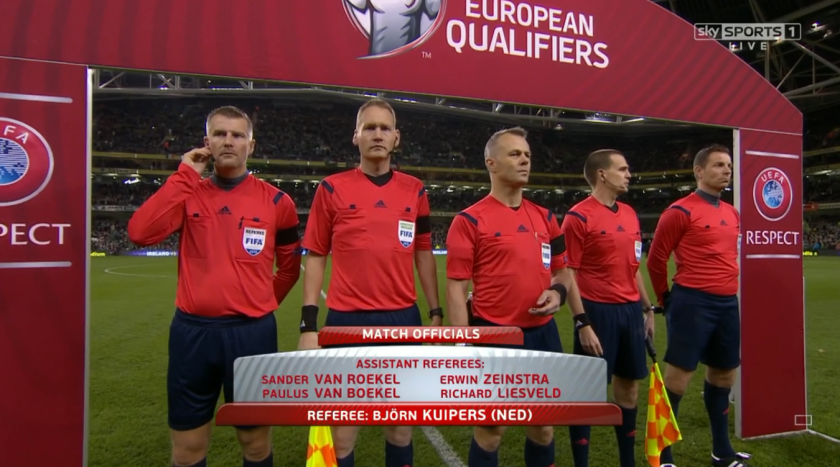 Bjorn Kuipers referee (ROI v Bosnia - 16th November 2015)