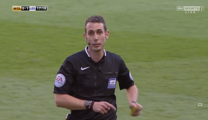 David Coote in charge (Wolves v Leeds - 6th April 2015)