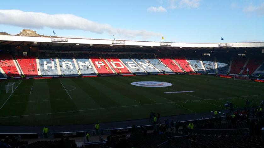 Hampden Park (ahead of Scots Lge Cup semi Rangers v Celtic - 1st Feb 2015)