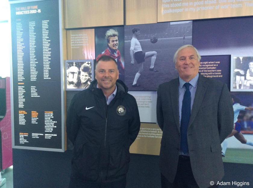 Keith Hackett and Mark Halsey at the National Football Museum