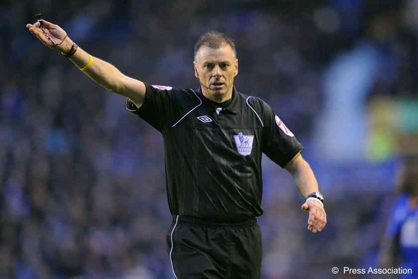 Mark Halsey in Premier League action