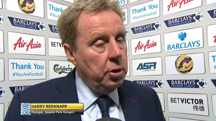 QPR boss Harry Redknapp on MOTD (v C Palace - 1st Jan 2015)